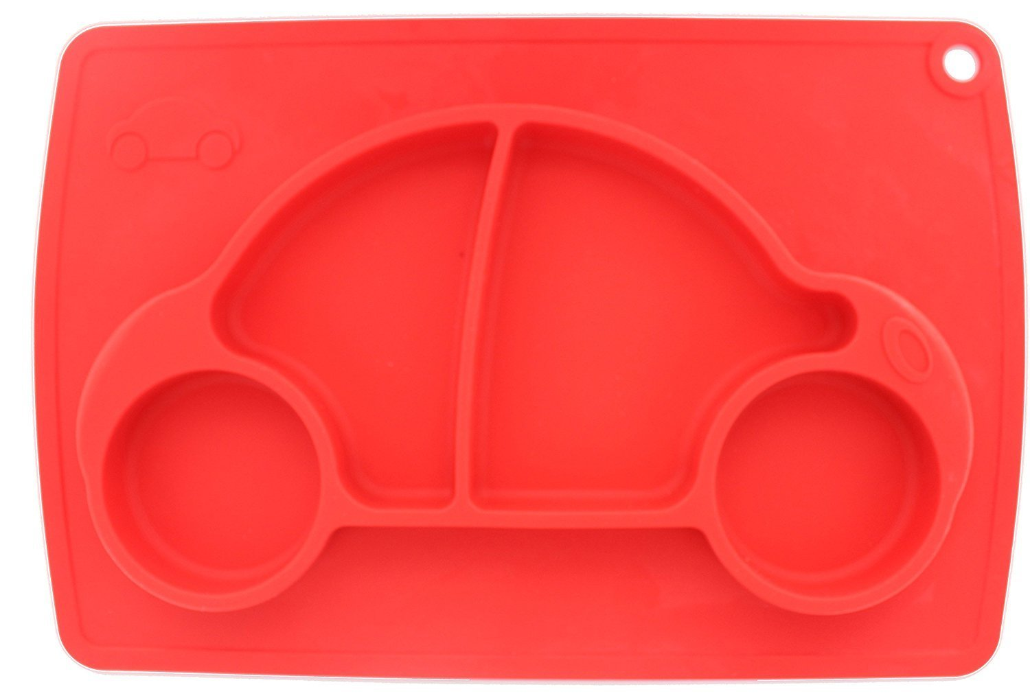 Car Silicone Baby Placemat Square Red B072614VQT