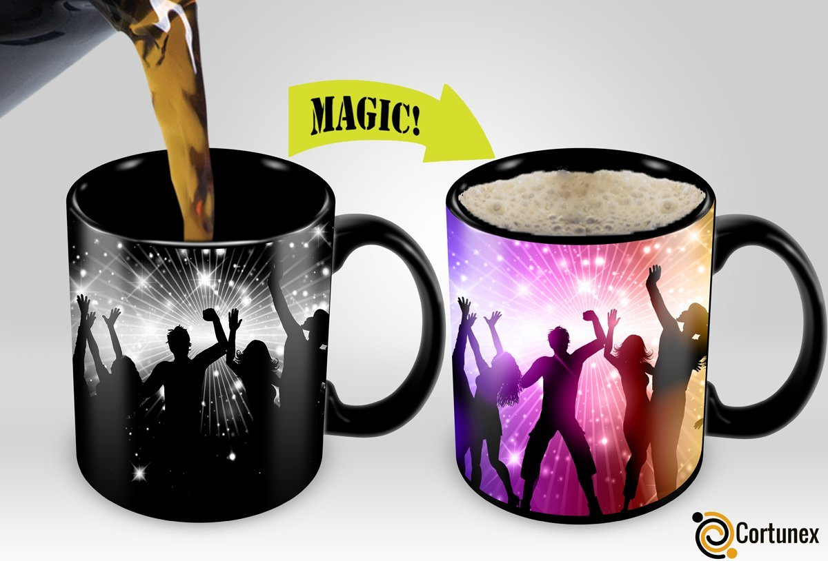 Cortunex | Amazing New Heat Sensitive Color Changing Coffee Mug | Good Gift Idea | Party Magic Mug 11oz |11 Oz White Mug