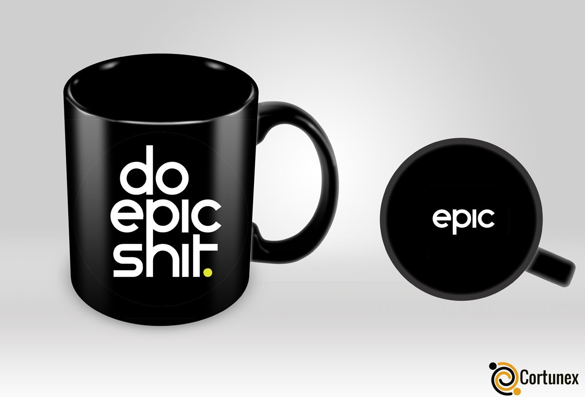 Cortunex | Do Epic Shit Mug | Funny Gift |Black Mug 11oz