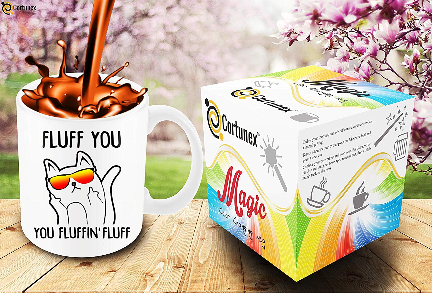 Heat Sensitive Color Changing Coffee Mug Funny Coffee Cup Fluff You You Fluffin Fluff Cat Design Funny Gift Idea B079FZ78QP 7