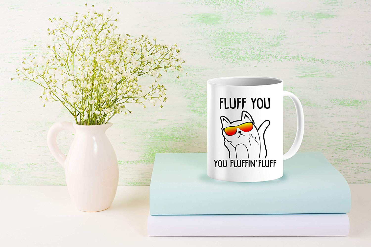 Heat Sensitive Color Changing Coffee Mug Funny Coffee Cup Fluff You You Fluffin Fluff Cat Design Funny Gift Idea B079FZ78QP 9