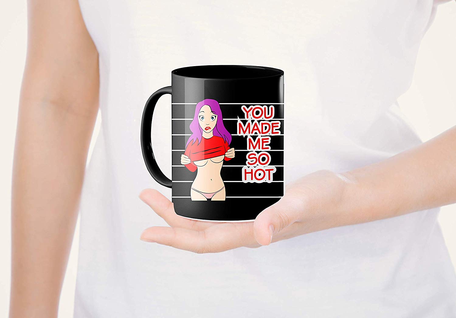 Heat Sensitive Color Changing Coffee Mug Funny Coffee Cup Hot Girl Design Funny Gift Idea B07D21CPTQ 6