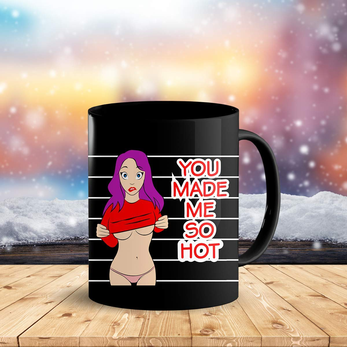 Heat Sensitive Color Changing Coffee Mug Funny Coffee Cup Hot Girl Design Funny Gift Idea B07D21CPTQ 9