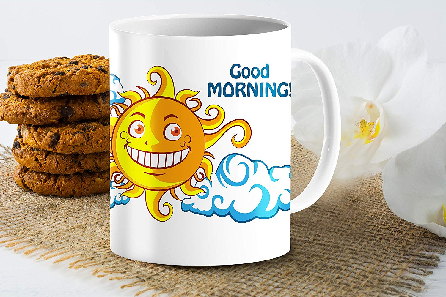 Heat Sensitive Color Changing Coffee Mug Funny Coffee Cup NightDay MoonSun Design Funny Gift Idea B07D223C62 3