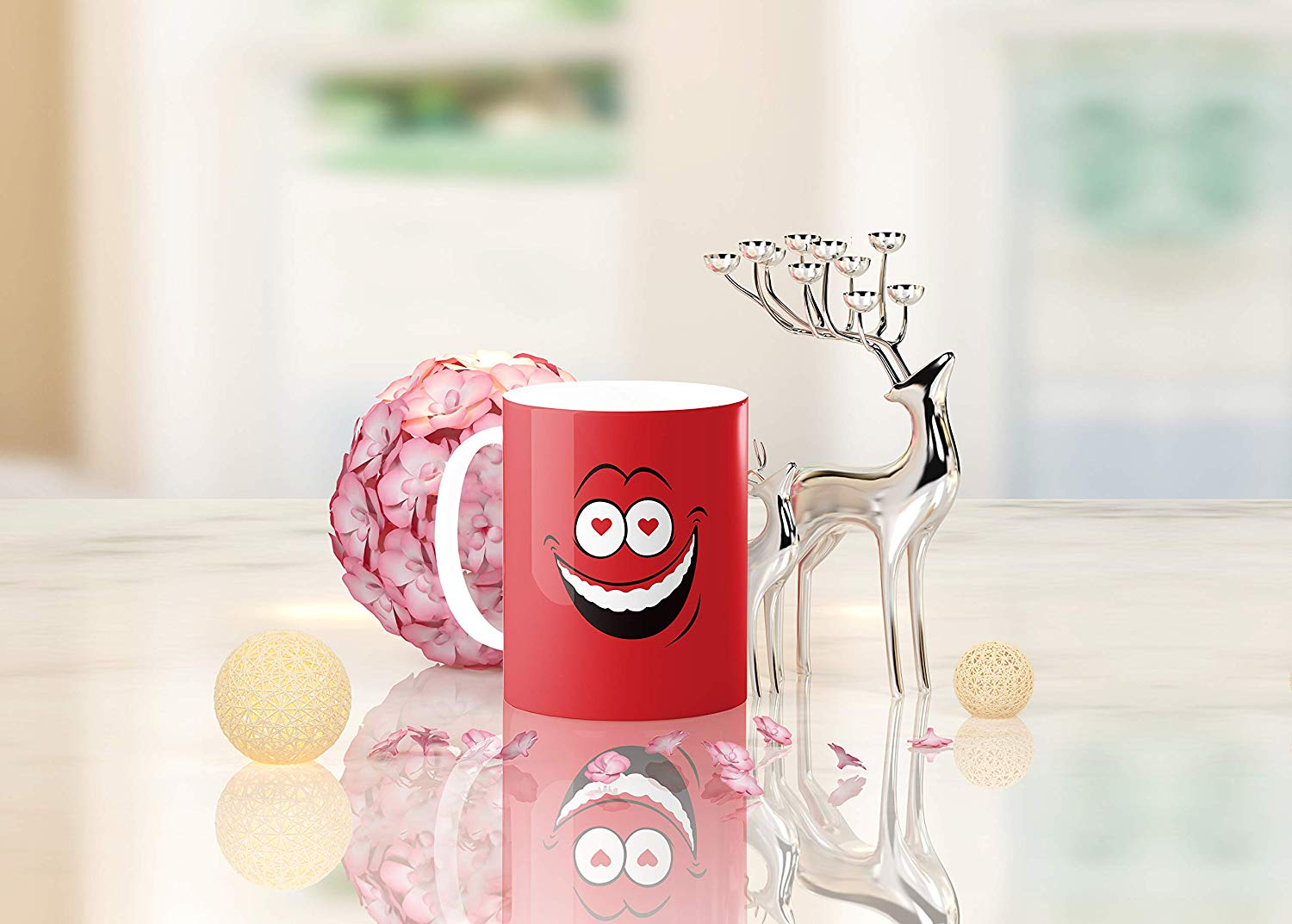 Heat Sensitive Color Changing Coffee Mug Funny Coffee Cup Red Loved Funny Face Design Funny Gift Idea B079FRF6YM 6