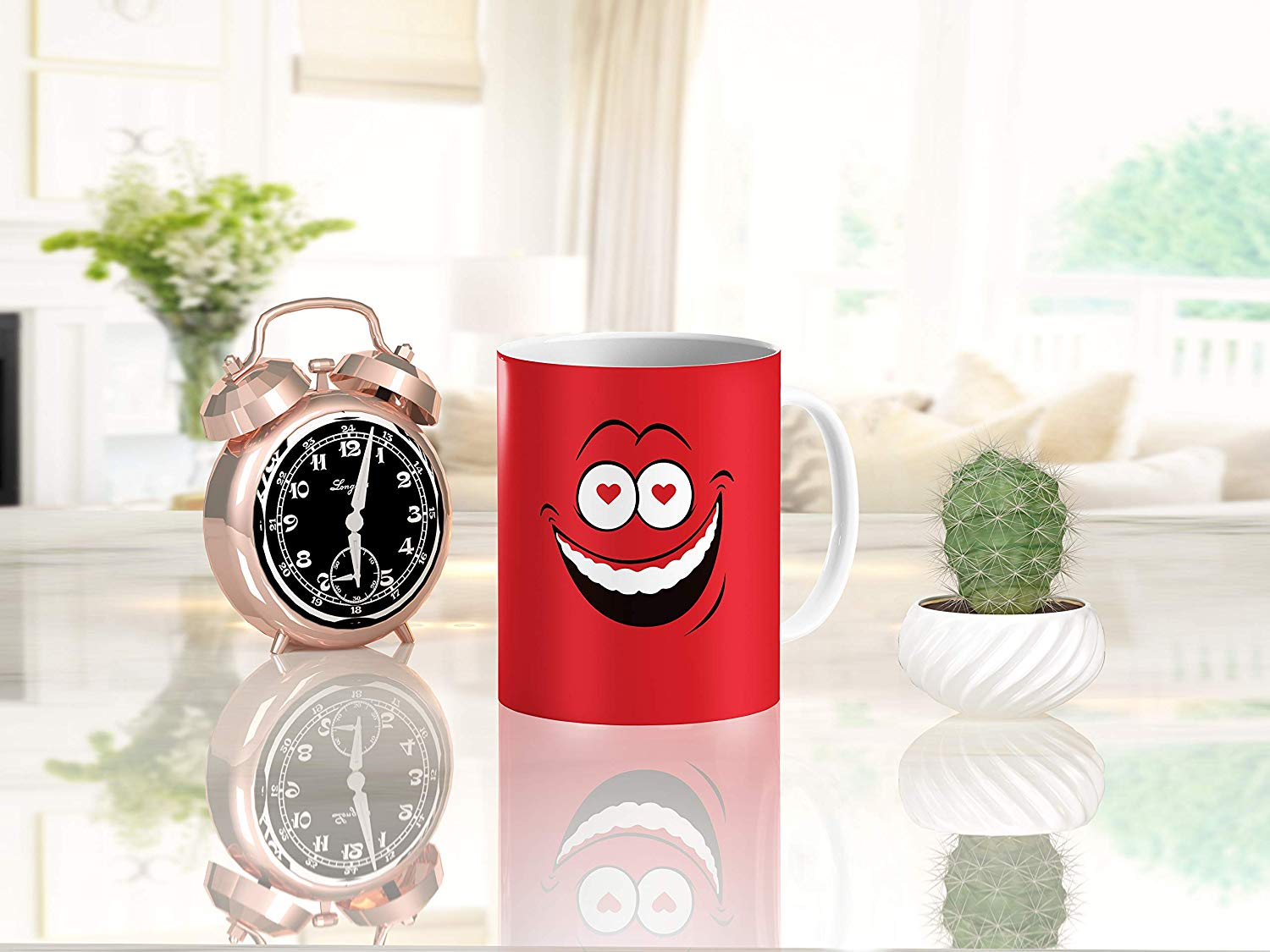 Heat Sensitive Color Changing Coffee Mug Funny Coffee Cup Red Loved Funny Face Design Funny Gift Idea B079FRF6YM 7
