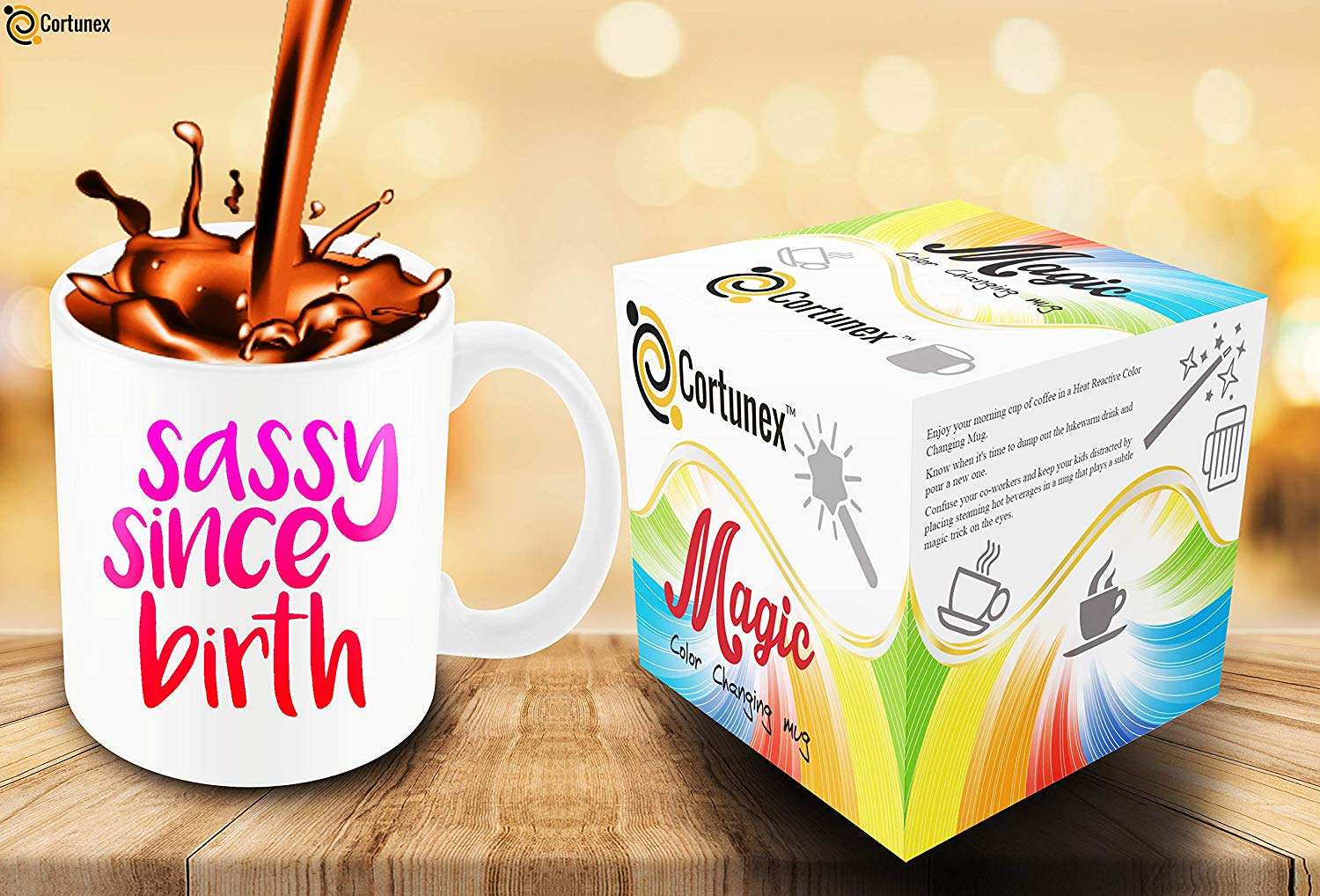 Heat Sensitive Color Changing Coffee Mug Funny Coffee Cup Sassy Since Birth Design Funny Gift Idea B079FXVMKT 6