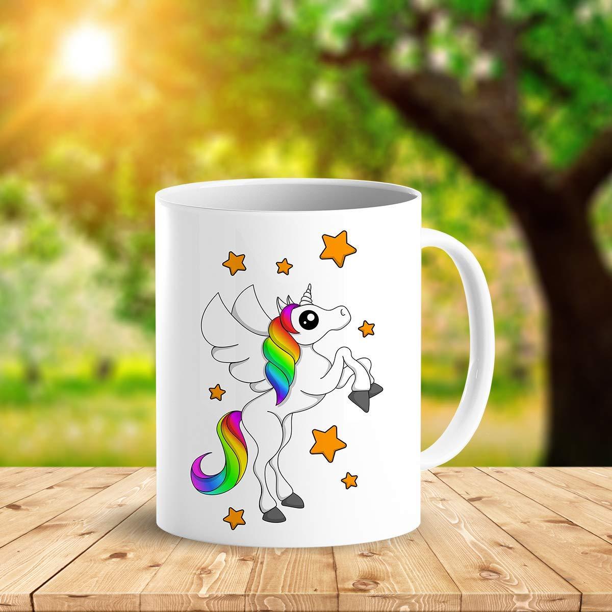 Heat Sensitive Color Changing Coffee Mug Funny Coffee Cup White Unicorn Design Funny Gift Idea B07D21VPWS 2