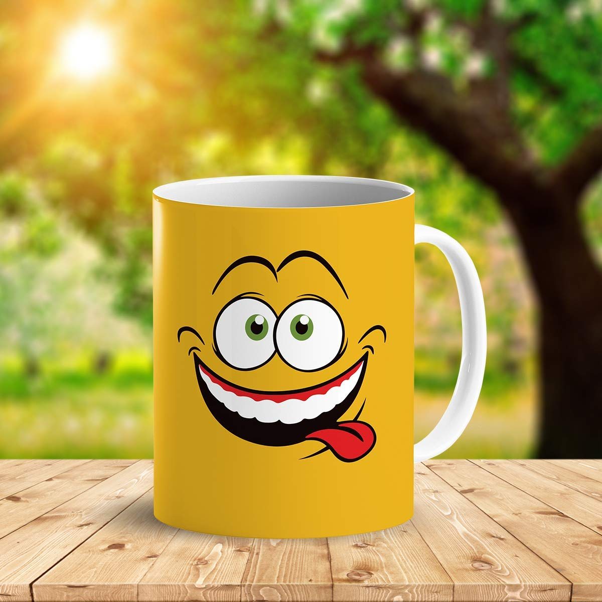 Heat Sensitive Color Changing Coffee Mug Funny Coffee Cup Yellow Drunk Funny Face Design Funny Gift Idea B079FWN7ZQ 8