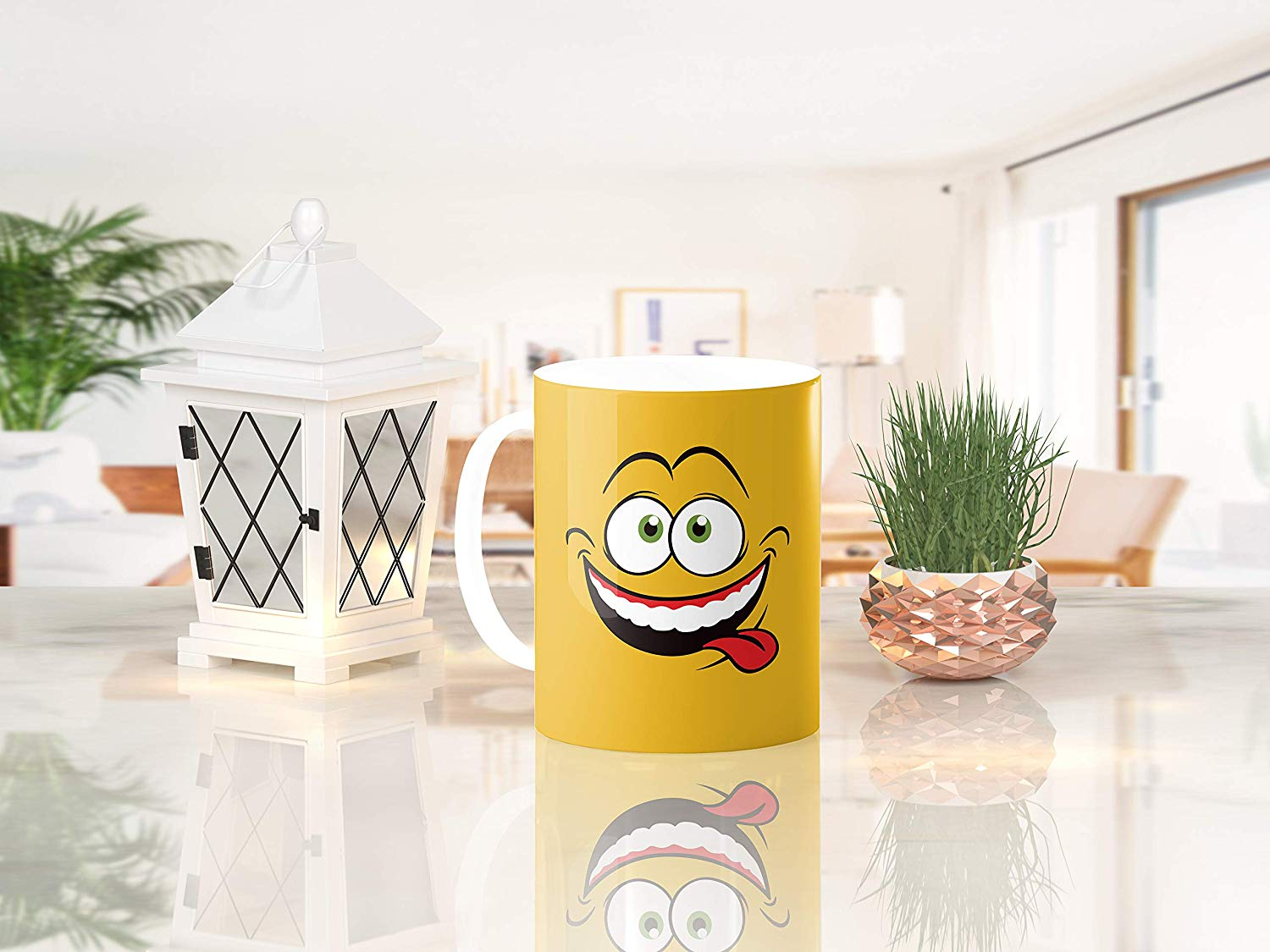 Heat Sensitive Color Changing Coffee Mug Funny Coffee Cup Yellow Drunk Funny Face Design Funny Gift Idea B079FWN7ZQ 9