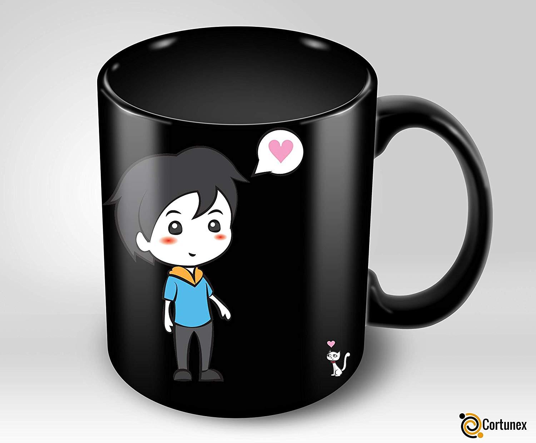 Heat Sensitive Mug Color Changing Coffee Mug Funny Coffee Cup Lovely Cartoon Couples Design Birthday Gift Idea F B07D21XCT3 2