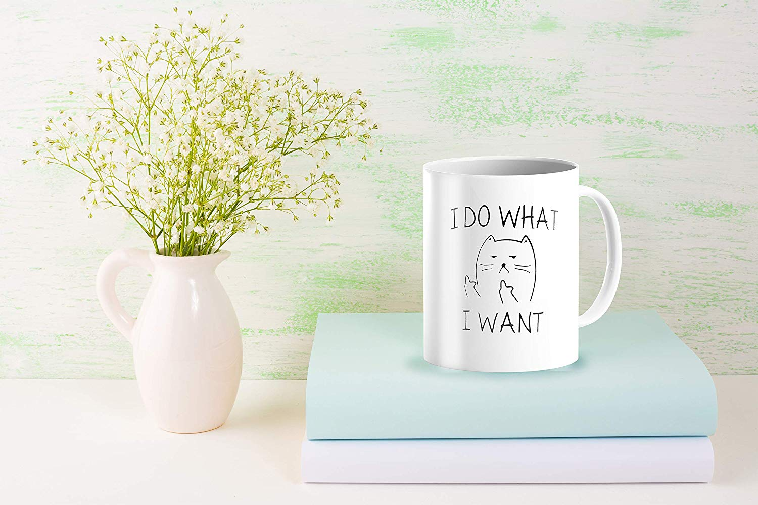I Do What I Want Funny Coffee Mug Cat Middle Finger 11 Oz Birthday Gift For Men Women Him Or Her B079FX31TX 6