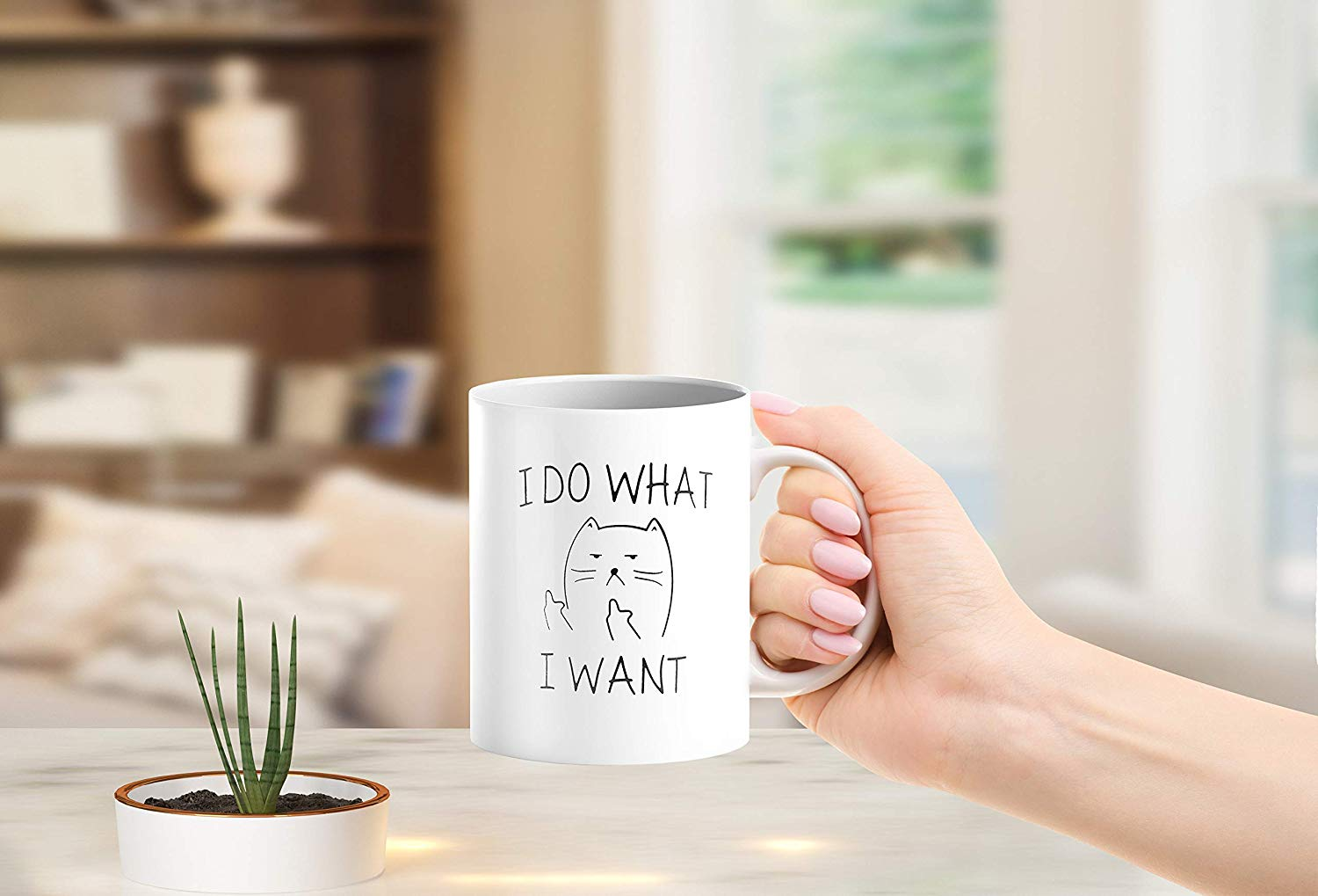 I Do What I Want Funny Coffee Mug Cat Middle Finger 11 Oz Birthday Gift For Men Women Him Or Her B079FX31TX 7