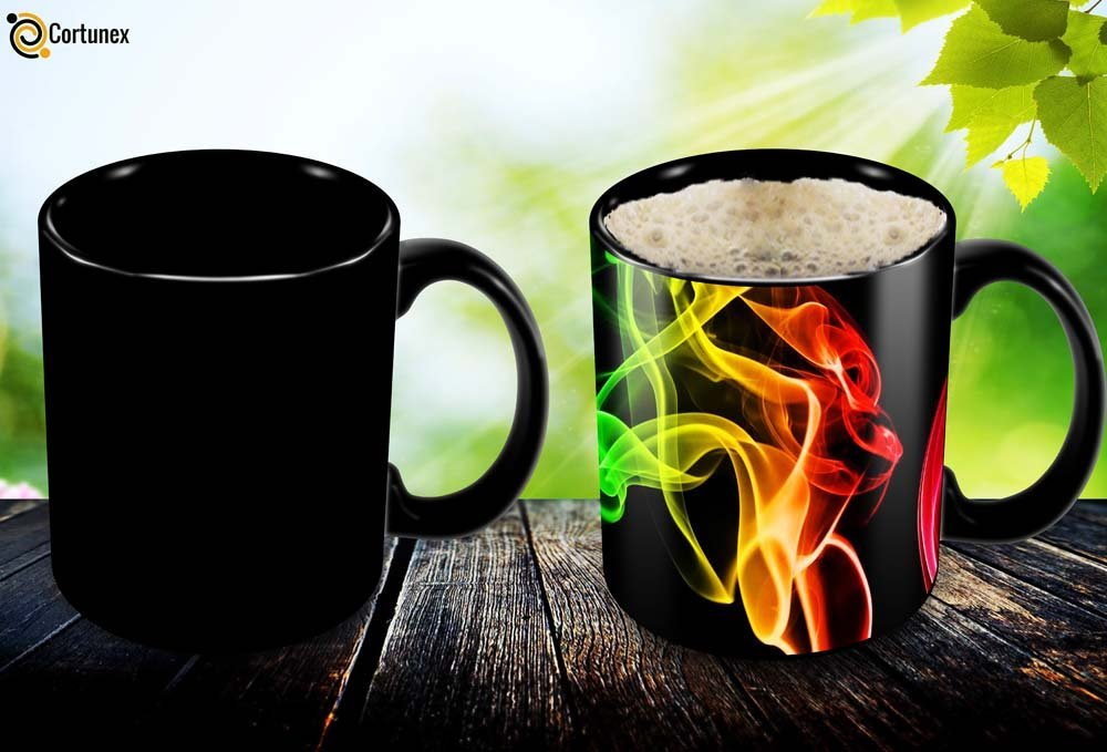 Magic Coffee Mugs Heat Sensitive Color Changing Coffee Mug