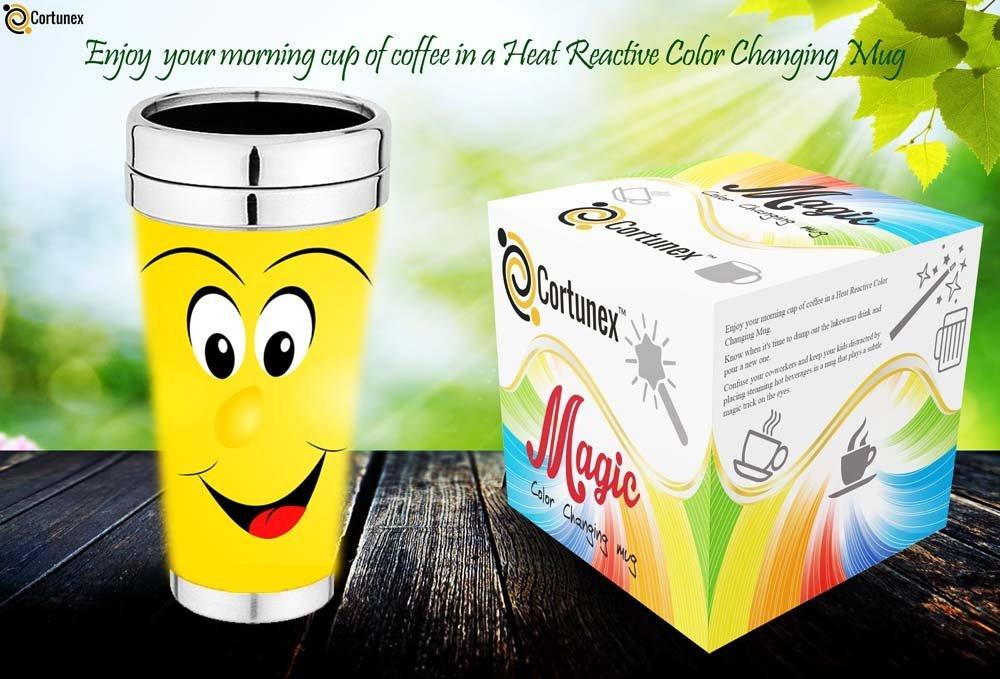 Magic Coffee Mugs Travel Mug Heat Sensitive Color Changing Stainless Steel Coffee Mug Good Gift Mug Funny Smiley Face Th B01N7NM81P 2