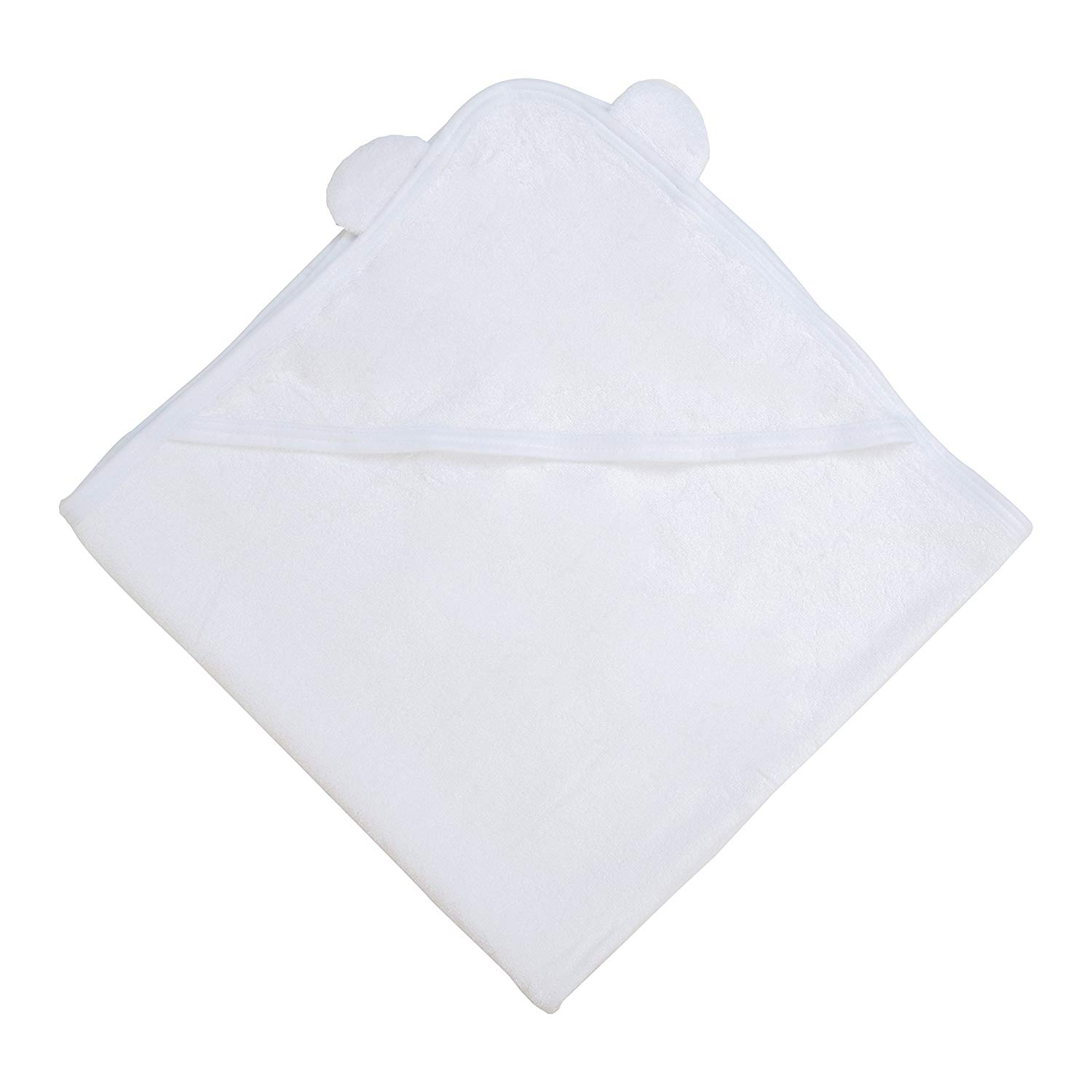 White Bamboo Hooded Baby Towel 100 Organic Unisex Towel Highly Absorbent And Super Soft Bath Towel For The Pool And Th B07211F5TG 9
