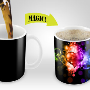 Magic Mugs | Amazing New Heat Sensitive Color Changing Coffee Mug , Good Unique Gift Idea | Fancy Heart Design