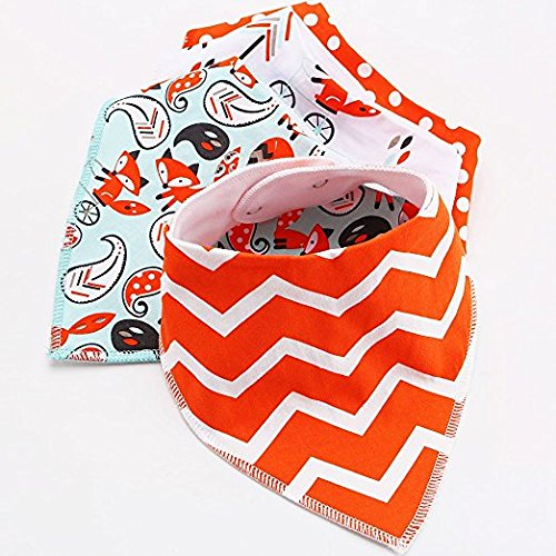 Baby Bandana Drool Bib Set Of 4Organic Super Absorbent Soft Chic Drooling And Teething Bibs B072MGNB8G 2