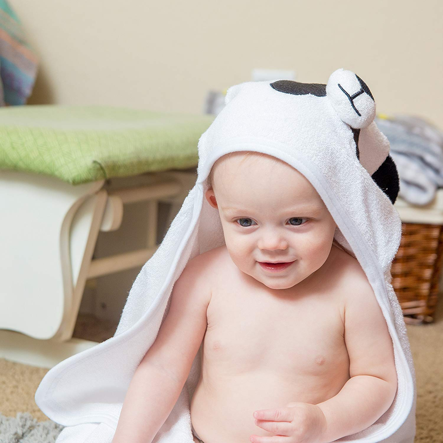 Bamboo Panda Hooded Baby Towel 100 Organic Unisex Towel Highly Absorbent And Super Soft Bath Towel For The Pool An B071G2C4Z9 5