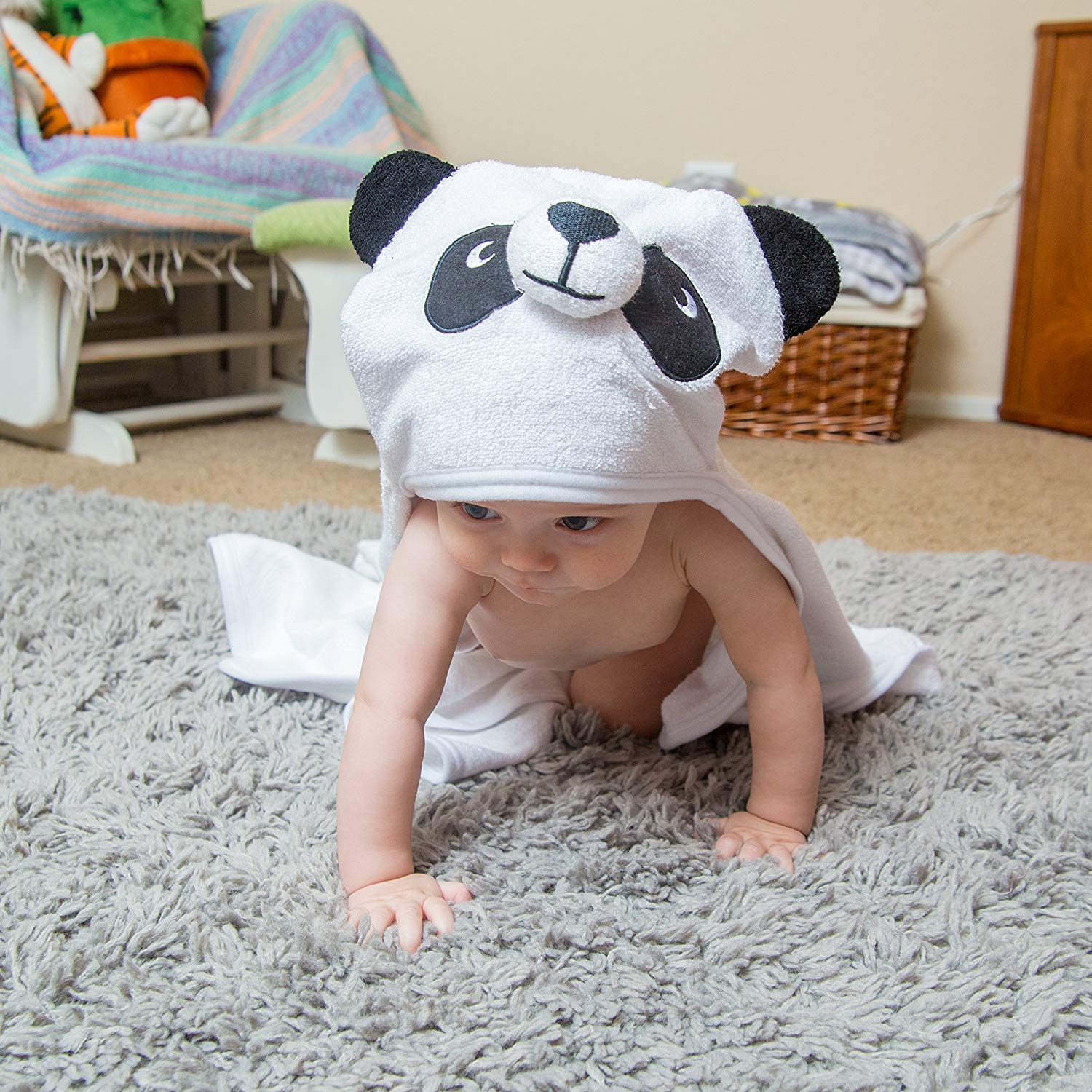 Bamboo Panda Hooded Baby Towel 100 Organic Unisex Towel Highly Absorbent And Super Soft Bath Towel For The Pool An B071G2C4Z9 8