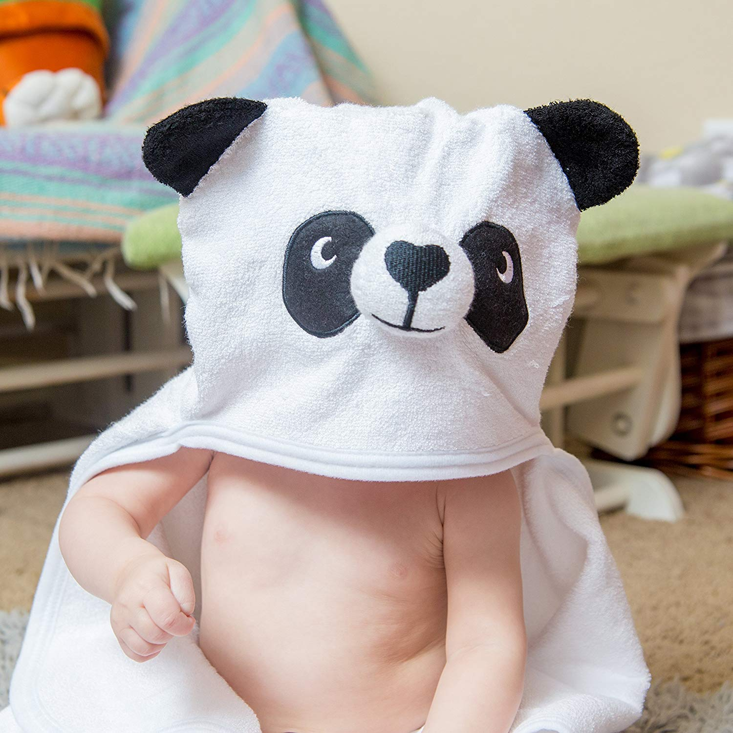 Bamboo Panda Hooded Baby Towel 100 Organic Unisex Towel Highly Absorbent And Super Soft Bath Towel For The Pool An B071G2C4Z9 9