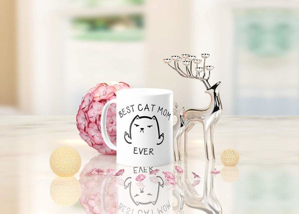 Best Cat Mom Ever Funny Coffee Mug Cat Middle Finger 11 Oz Birthday Gift For MotherMom Or Wife B079FRN7MM 7