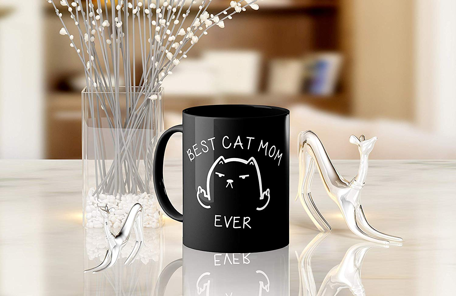Best Cat Mom Ever Funny Coffee Mug Cat Middle Finger 11 Oz Birthday Gift For MotherMom Or Wife B079FYPL3B 7