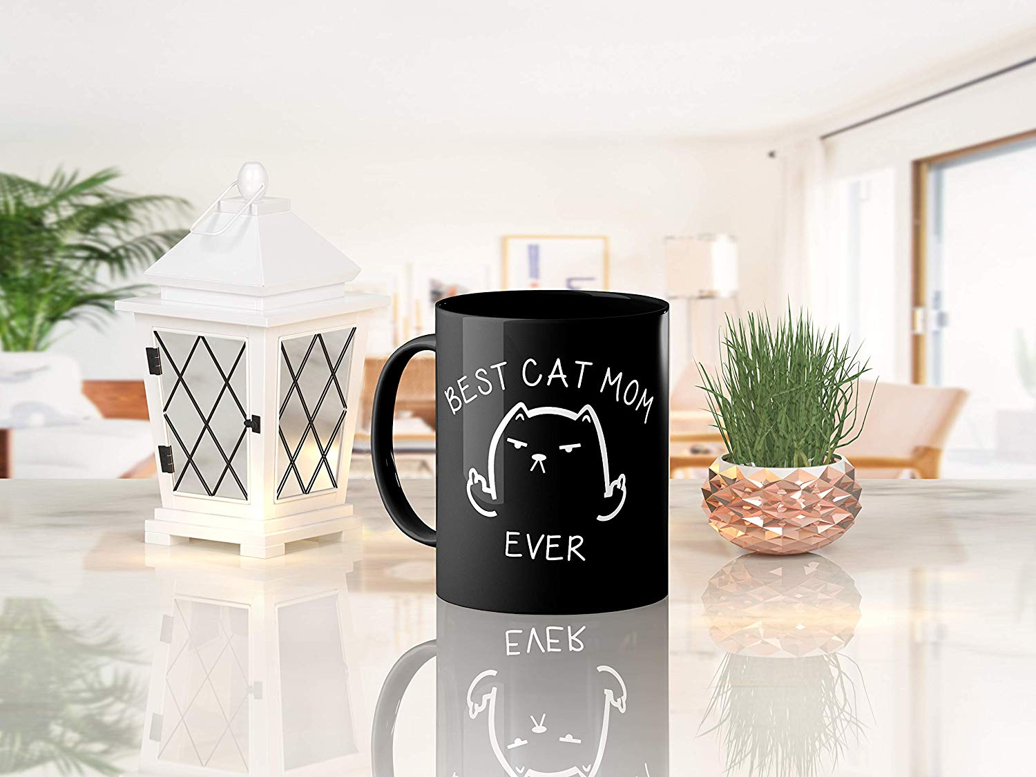 Best Cat Mom Ever Funny Coffee Mug Cat Middle Finger 11 Oz Birthday Gift For MotherMom Or Wife B079FYPL3B 8