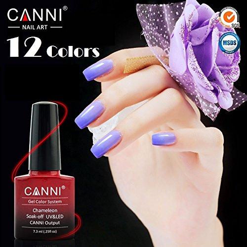 CANNI 73 Ml UV Color Changing Gel Nail Polish Set Of 12 B01CHUBB4O 2