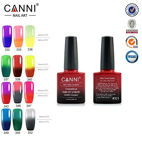 CANNI 73 Ml UV Color Changing Gel Nail Polish Set Of 12 B01CHUBB4O