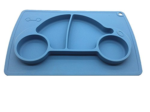 Car Silicone Baby Placemat Square Blue B071J5R4VV 3