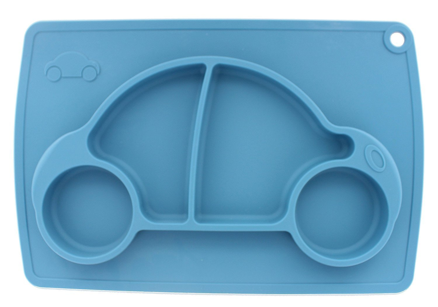 Car Silicone Baby Placemat Square Blue B071J5R4VV
