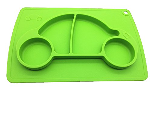 Car Silicone Baby Placemat Square Green B072614XXX 4