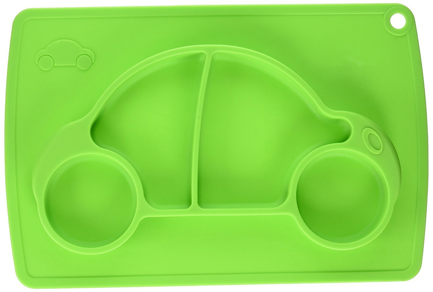 Car Silicone Baby Placemat Square Green B072614XXX