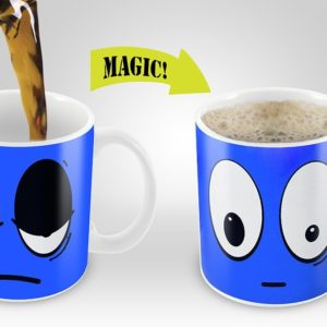 Cortunex | Yellow Wake Up Magic Mug | Amazing New Heat Sensitive Color Changing Coffee Mug