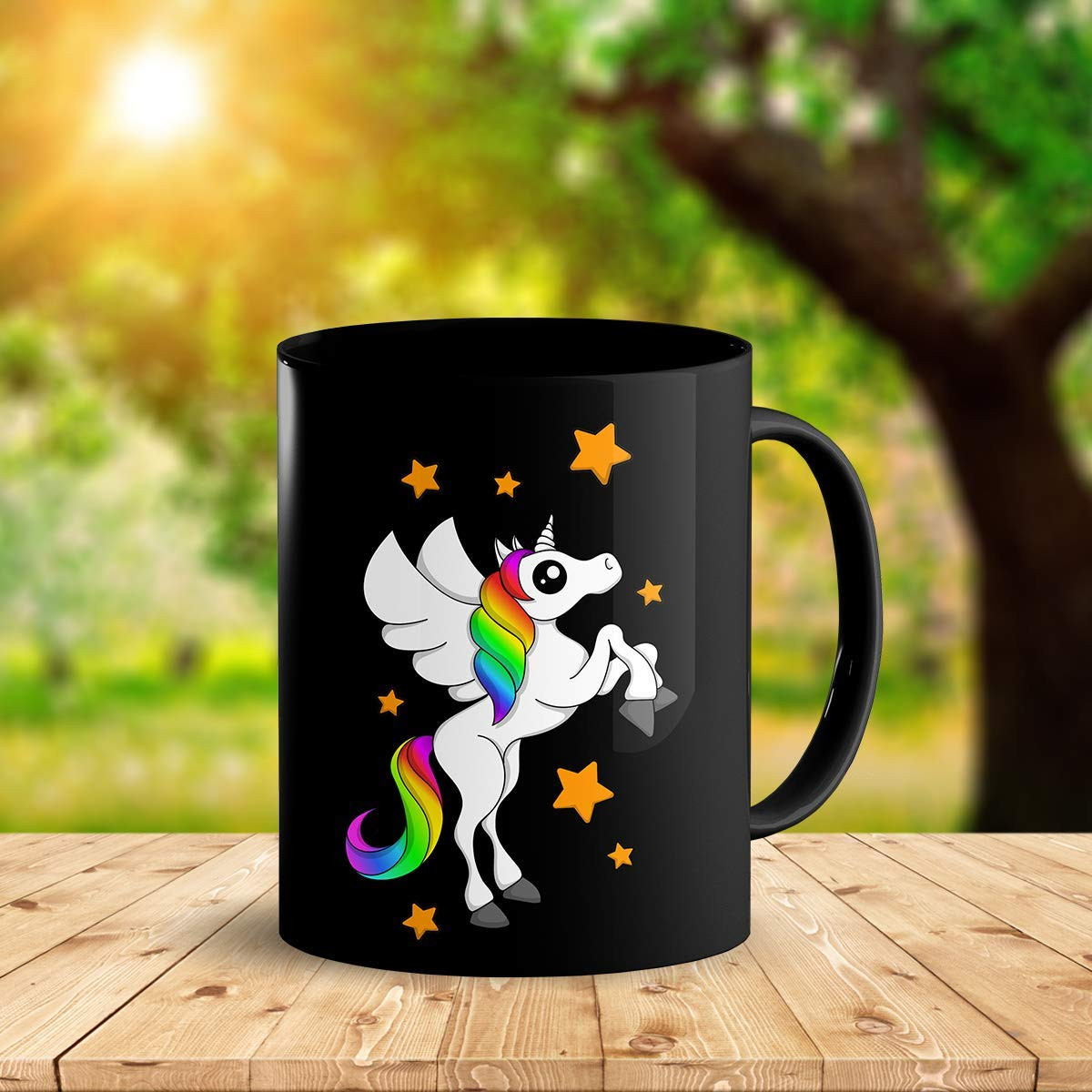 Heat Sensitive Color Changing Coffee Mug Funny Coffee Cup Black Unicorn Design Funny Gift Idea B07D21DSFL 2