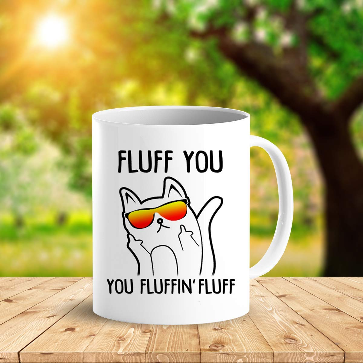 Heat Sensitive Color Changing Coffee Mug Funny Coffee Cup Fluff You You Fluffin Fluff Cat Design Funny Gift Idea B079FZ78QP 4