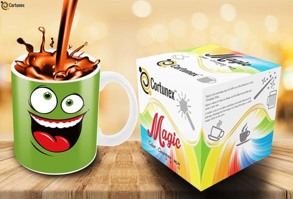 Heat Sensitive Color Changing Coffee Mug Funny Coffee Cup Green Happy Funny Face Design Funny Gift Idea B079FR15QX 5