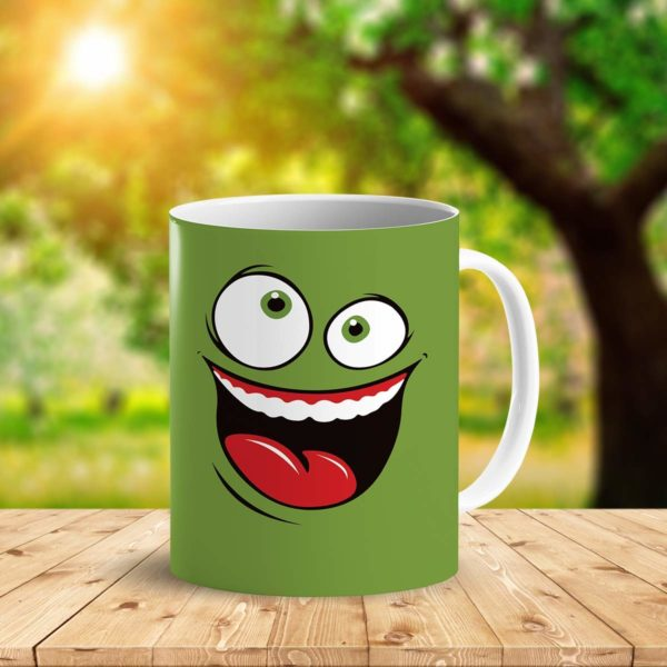 Heat Sensitive Color Changing Coffee Mug Funny Coffee Cup Green Happy Funny Face Design Funny Gift Idea B079FR15QX 8