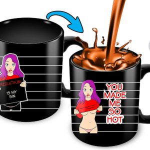 Heat Sensitive Color Changing Coffee Mug | Funny Coffee Cup | Hot Girl Design | Funny Gift Idea