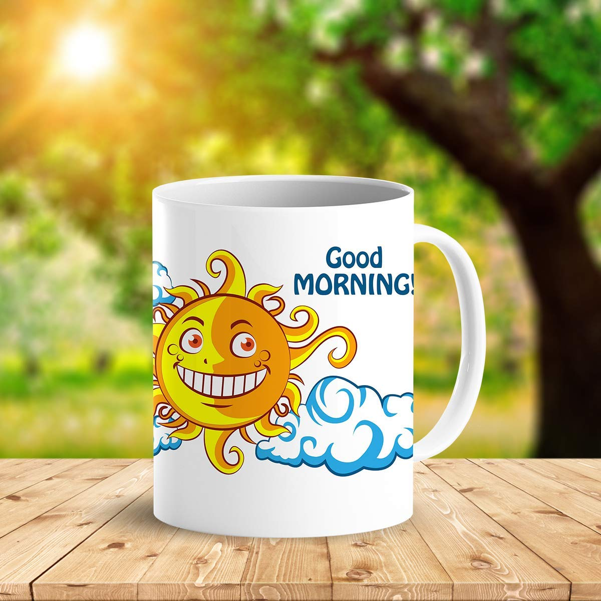 Heat Sensitive Color Changing Coffee Mug Funny Coffee Cup NightDay MoonSun Design Funny Gift Idea B07D223C62 2