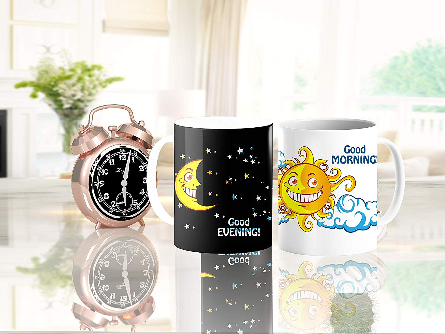 Day / Night & Sun / Moon Magic Mug