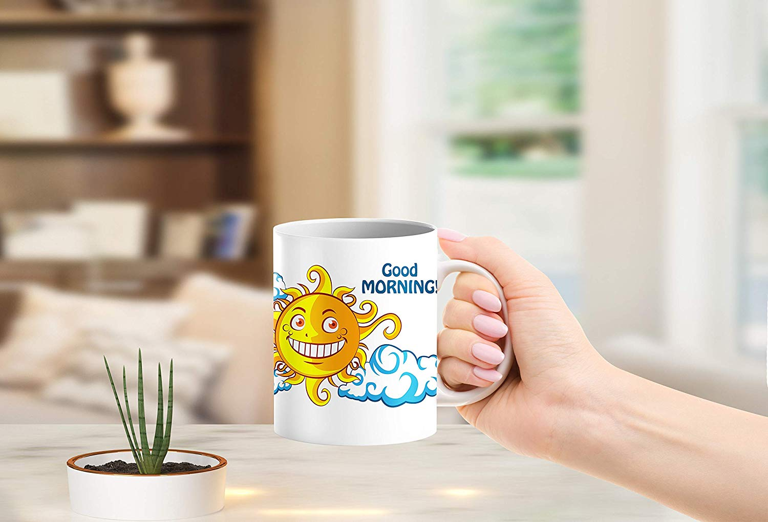 Heat Sensitive Color Changing Coffee Mug Funny Coffee Cup NightDay MoonSun Design Funny Gift Idea B07D223C62 5