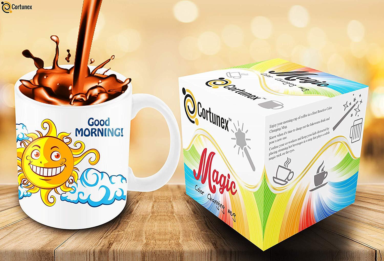 Heat Sensitive Color Changing Coffee Mug Funny Coffee Cup NightDay MoonSun Design Funny Gift Idea B07D223C62 6