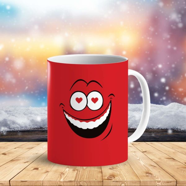 Heat Sensitive Color Changing Coffee Mug Funny Coffee Cup Red Loved Funny Face Design Funny Gift Idea B079FRF6YM 3