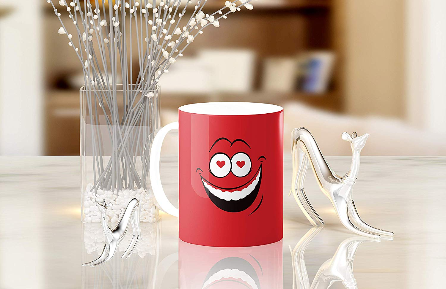 Heat Sensitive Color Changing Coffee Mug Funny Coffee Cup Red Loved Funny Face Design Funny Gift Idea B079FRF6YM 9