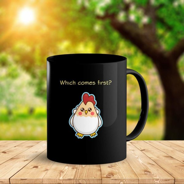 Heat Sensitive Color Changing Coffee Mug Funny Coffee Cup Which Comes First The Chicken Or The Egg Funny Gift Idea B07D1ZSXDJ 2