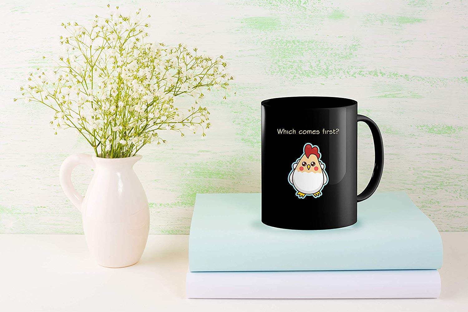 Heat Sensitive Color Changing Coffee Mug Funny Coffee Cup Which Comes First The Chicken Or The Egg Funny Gift Idea B07D1ZSXDJ 6