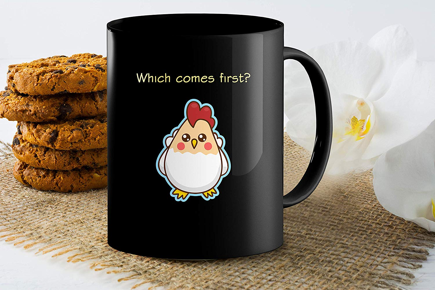 Heat Sensitive Color Changing Coffee Mug Funny Coffee Cup Which Comes First The Chicken Or The Egg Funny Gift Idea B07D1ZSXDJ 9
