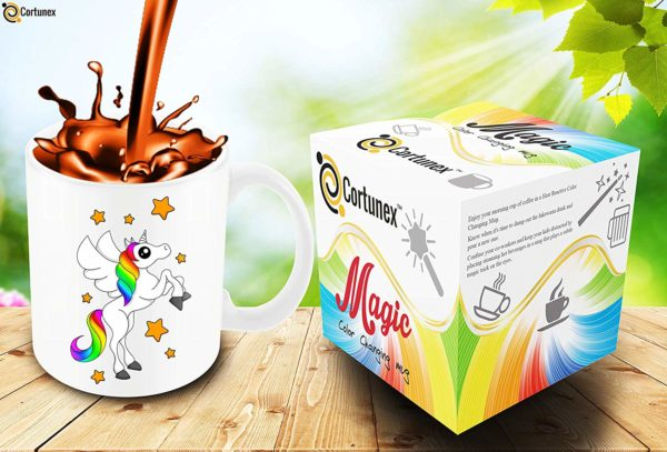 Heat Sensitive Color Changing Coffee Mug Funny Coffee Cup White Unicorn Design Funny Gift Idea B07D21VPWS 5